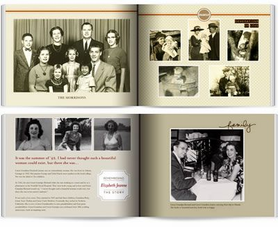 Tips from start to finish for making a family heritage book.  Shutterfly has two heritage themes plus two tribute styles