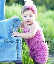Chic Baby Rose Toddler Petti Jumpers - great photo prop, swimsuit cover, or birthday outfit. Handmade in the USA.