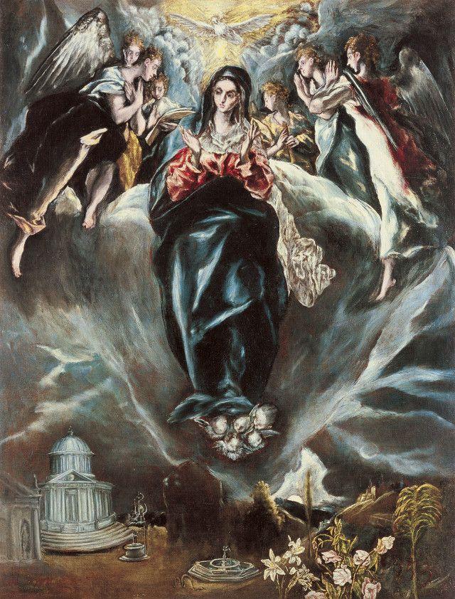 "El Greco, ""The immaculate Conception"", 1608-14, Museo Thyssen-Bornemisza"