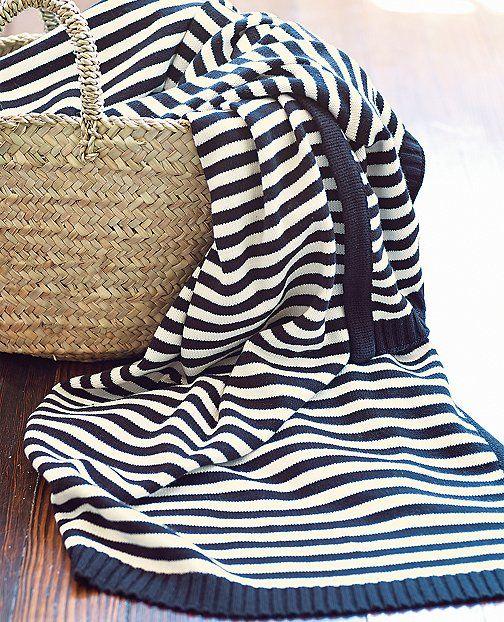 Stripe Happy Throw | by Hanna Home