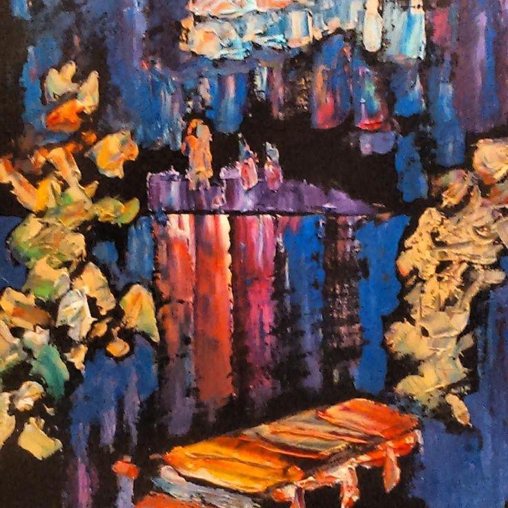 Kąpiel 2011 olej na płycie 40x40 Alfons Kułakowski - Wernisaż wystawy - 13.05.2016 #encek #nowahuta #kułakowski #art #exhibition #colorful #impresjonizm #painting #artist #impressionism #kulturaKRK