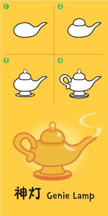 Genie Lamp Genie Lamp Drawing For Kids Genies