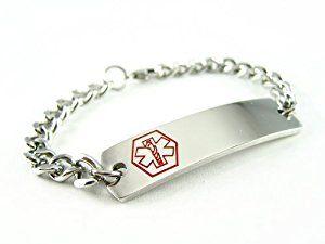 Pre Engraved - Warfarin Medical Alert ID Bracelet, Curb Chain  http://electmejewellery.com/jewelry/bracelets/identification/pre-engraved-warfarin-medical-alert-id-bracelet-curb-chain-com/