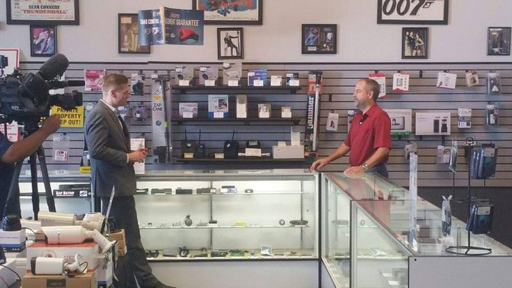 Owner Michael Dear of Spy Centre Security doing an interview with CBS 11 News about Bluetooth Skimming Devices. 8-4-16