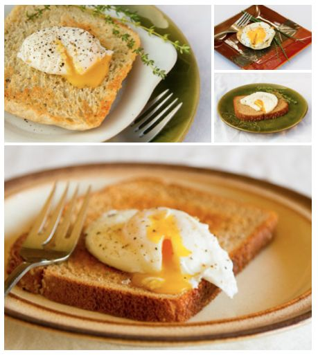 Poached Egg Tests - a review : comparing 5 different methods for poaching eggs