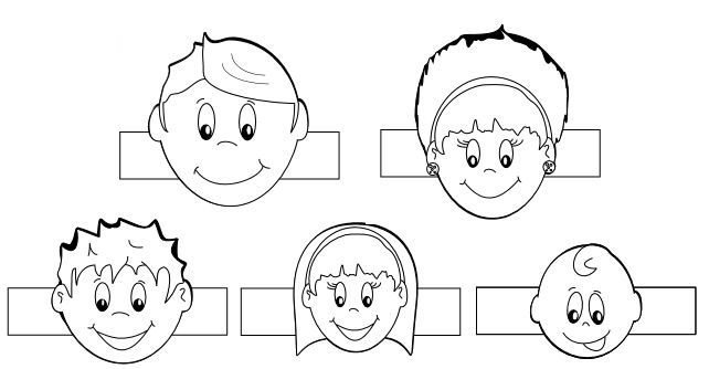 Family Finger Puppets Template