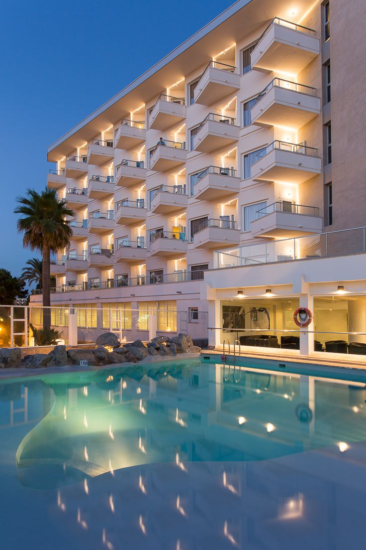 Exterior Lighting: Hotel Garonda, Playa De Palma, Mallorca, Spain
