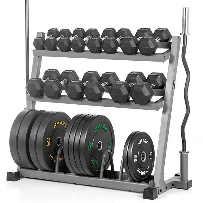 Xmark Powerhouse Package Fully Loaded Dumbbell And Plate Weight