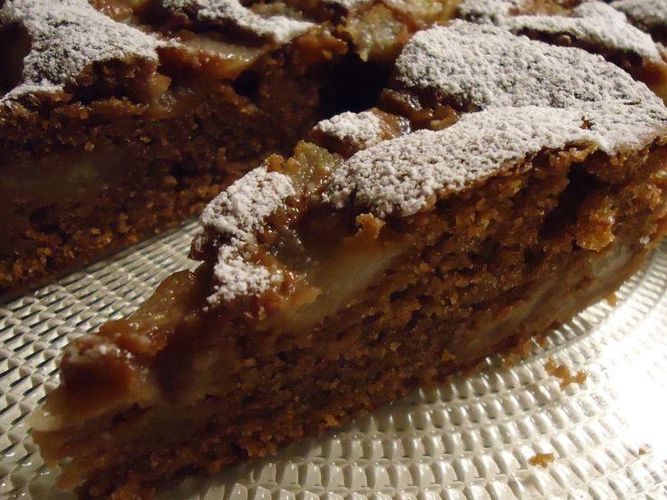 torta all'acqua cioccolato e pere
