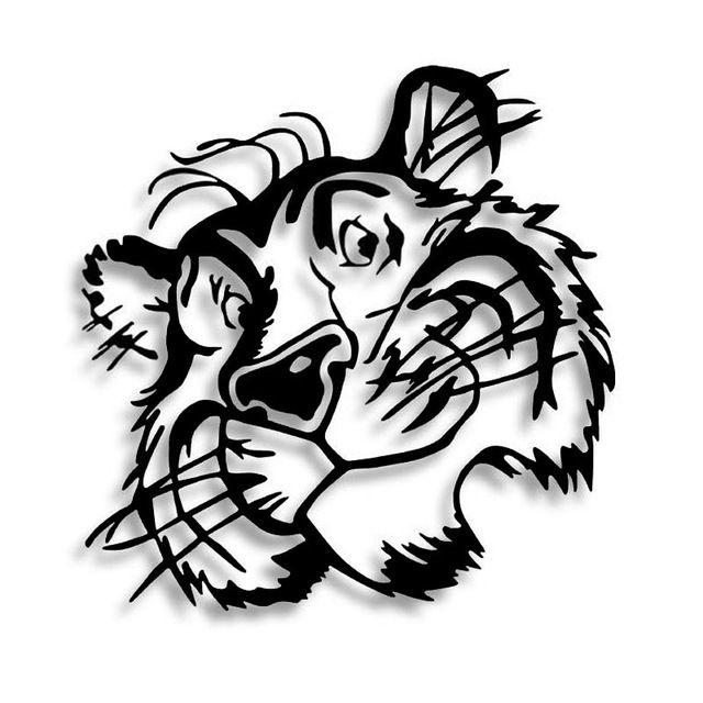 30*29 СМ Тела Наклейки, Прикрепленные К Капотом Автомобиля Капот Голова ТИГРА Животных Украшения Тела наклейки CT-575