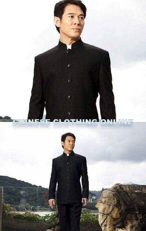 Jet Li in a zhongshan suit (mao suit)
