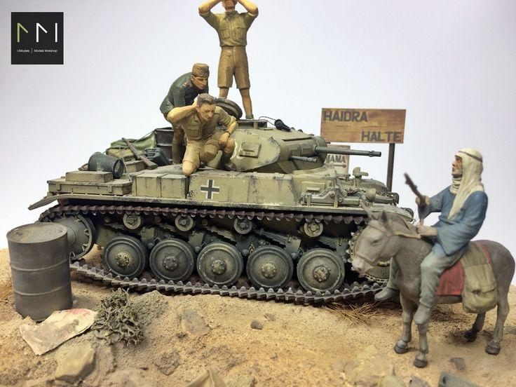 D.A.K. Diorama - Panzer II - 1:35 by MModels (Maciej Ligięza)