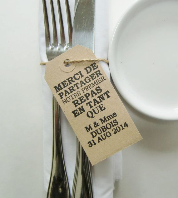Les 25 meilleures id es concernant marque place mariage for Idee repas a partager