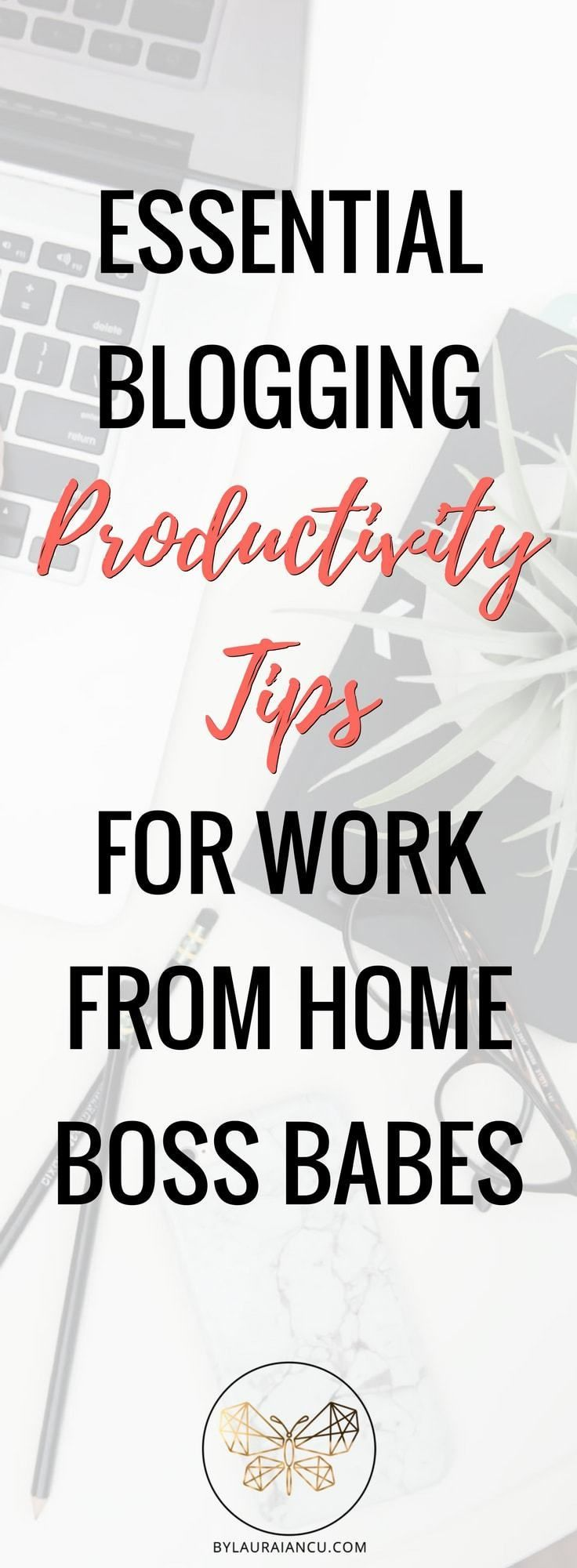 Tips for becoming an insanely productive blogger. Give your productivity a boost, stop procrastinating and feeling overwhelmed. Great productivity tips for bloggers, work from home moms and entrepreneurs.