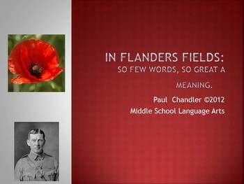 In Flanders Fields Interactive Lesson Plan