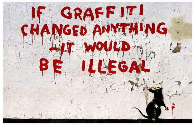 Banksy proves that the spray can is mightier than the sword with this great quote poster! Ships fast. 11x17 inches. Check out the rest of our awesome selection of Banksy posters! Need Poster Mounts..?