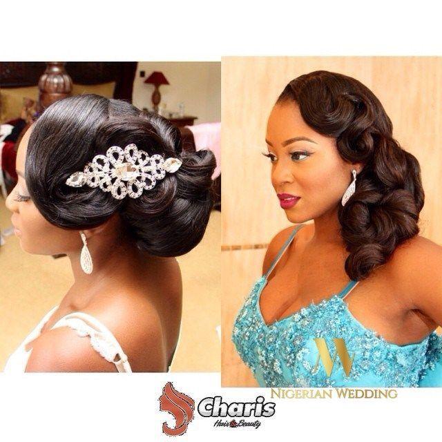 Nigerian Wedding Presents Gorgeous Bridal Hairstyles By Charis Hair