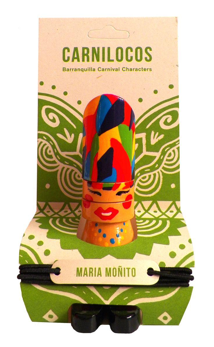 Carnilocos Personajes Carnaval de Barranquilla elaborados amorosamente por artesanos de Galapa, Atlantico. 100% madera, Pintura no toxica. pintados a mano Usalos como tieteres de dedo, muñeco decorativo, o con su cuerda crea un accesorio. Diseño de producto : Estephania Estupiñan  Grafica de empaque : Silvana Pacheco