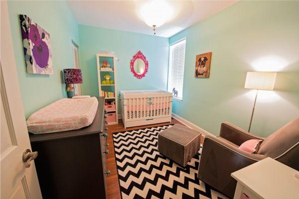 quarto de bebê rosa e azul para menina
