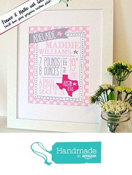 Baby stats print Baby announcement Baby birth information New baby gift from Lacey Fields https://www.amazon.com/dp/B0164MYZD0/ref=hnd_sw_r_pi_dp_HPd3ybK66461H #handmadeatamazon