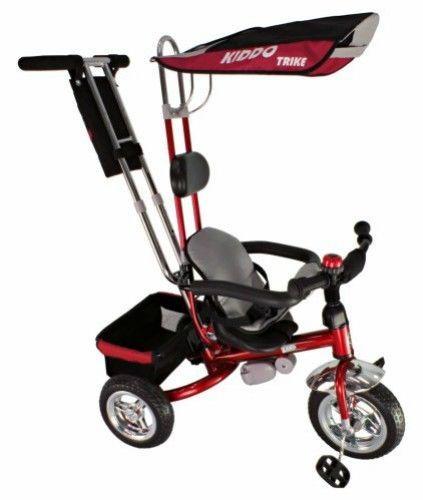 4 in1 Tricycle Kids Smart Trike Children 3 Wheeler Bike Safety Parent Handle Red #KiddoByRayGar #SmartDesign