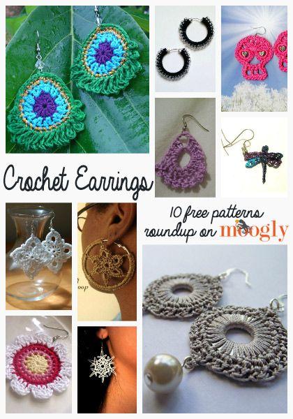 free crochet earrings patterns