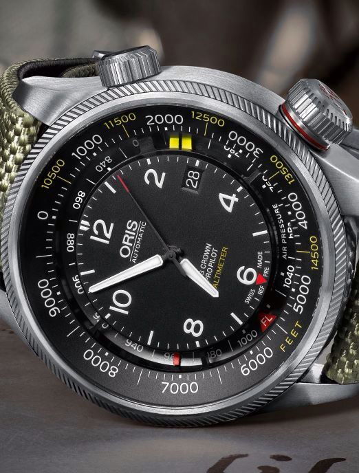New timepiece by Oris: Oris Big Crown ProPilot Altimeter First automatic mechanical watch with altimeter ever.