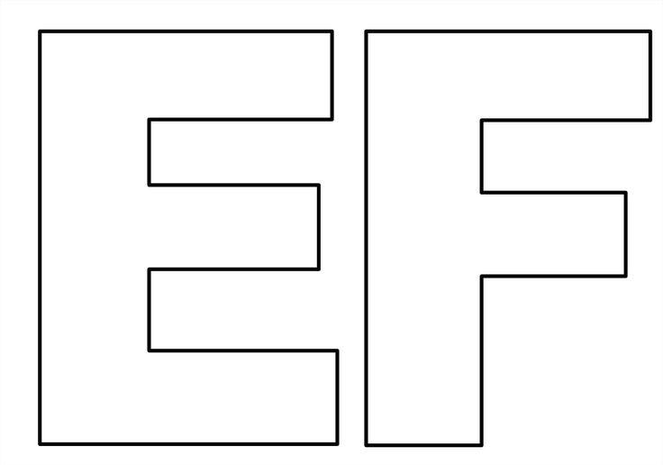 Moldes de letras do alfabeto em tamanho grande para imprimir! Letras tamanho…