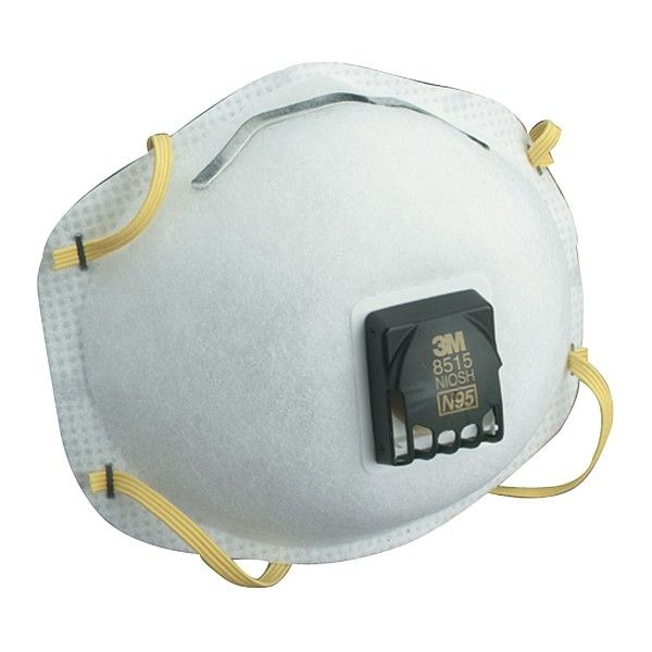 3M™ N95 Particulate Welding Respirator 8515.  This economical N95 disposable particulate welding respirator helps provide respiratory protection for applications where metal fumes may be present. It features 3MTM Cool FlowTM Valve, braided headband and adjustable M-noseclip for added comfort.  http://tigaem.com/respirator-masker/1136-3m-particulate-welding-respirator-8515-n95.html  #masker #respirator #3M