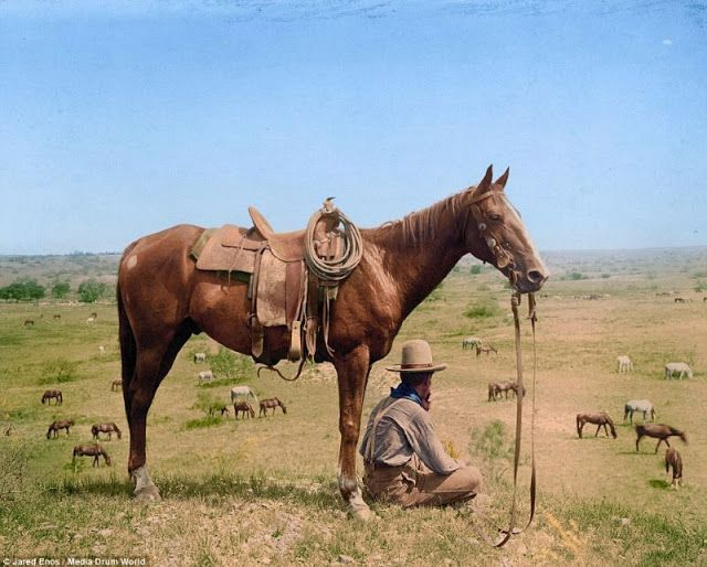 Old West in Color: Colorized Pictures of Cowboys From the Late 19th to Early 20th Centuries ~ vintage everyday