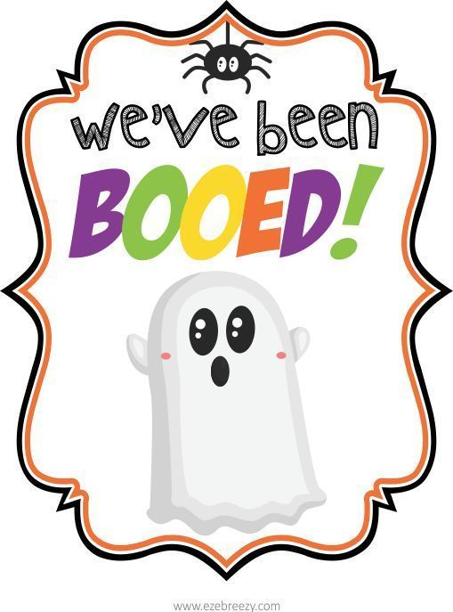 FREE You\u0027ve Been BOOed PRINTABLE Printables for Kids Pinterest