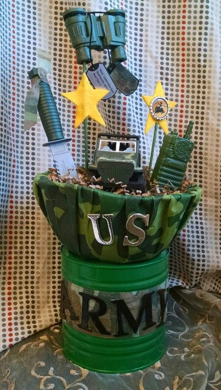 Military Centerpiece by Aye Que Cute Creations