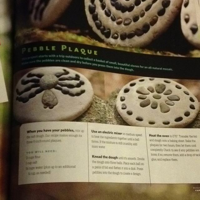 Salt dough plaques