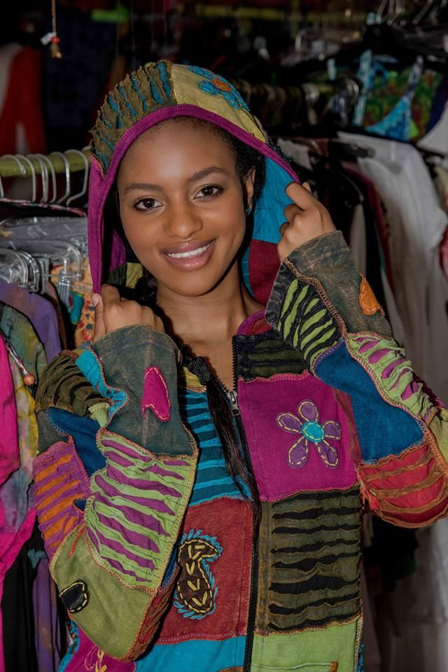 Our funky, hippie hoodies on sale at Taspa Experience in Salt Rock in KZN, South Africa