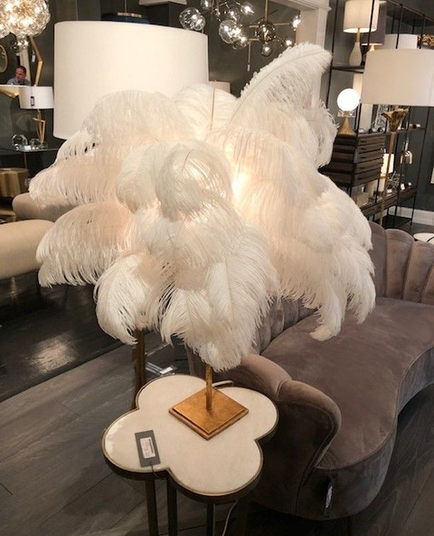 Lorna Gross On Instagram How Fun Is This White Feather Lamp From Gabbydecor It Is Perfect For A Boudoir Or Dressing Room Feather Lamp White Feathers Lamp