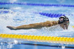 TWA-0050952 © WestPix 2016 Rio Olympics. Rio de Janeiro, Brazil. Swimming day 5, Olympics Aquatic Stadium. Men's 200m Individual Medley. Michael Phelps. Picture: Simon Santi The West Australian