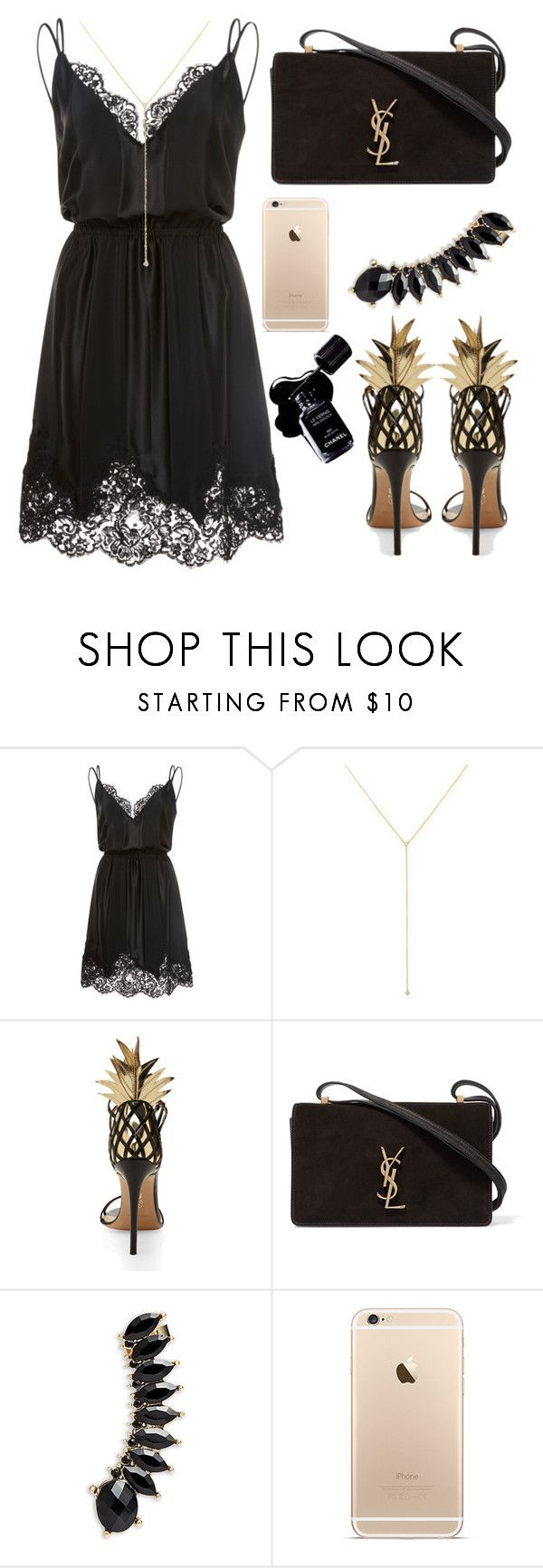 """""""Untitled #8405"""" by tatyanaoliveiratatiana ❤ liked on Polyvore featuring Georgine, ZoÃ« Chicco, Aquazzura, Chanel, Yves Saint Laurent and Jules Smith"""