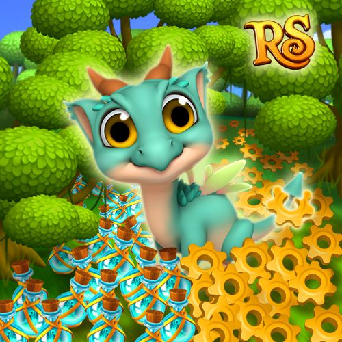 Aww! Can you resist those big cute eyes? Little Forest Dragon is looking for a place to stay, why don't you adopt him?  #royalstorygame #royalzoo