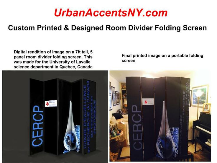 We Can Create For You Your Own Custom Image Room Divider. This One Was  Created