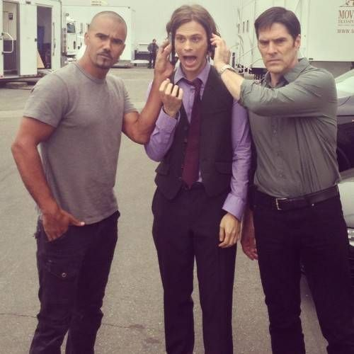 Matthew Gray Gubler On Set Criminal Minds