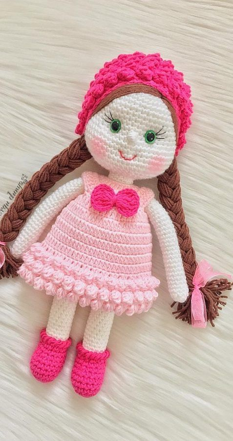 DIY-How to crochet a amigurumi doll head - YouTube | 900x477