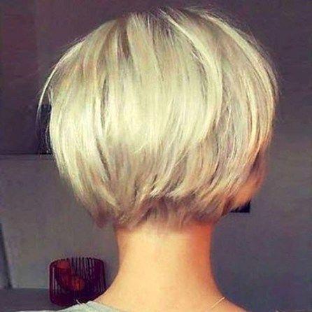 Cute-Blonde-Bob-Haircut New Short Layered Hairstyles 2018 #Bobhaircut