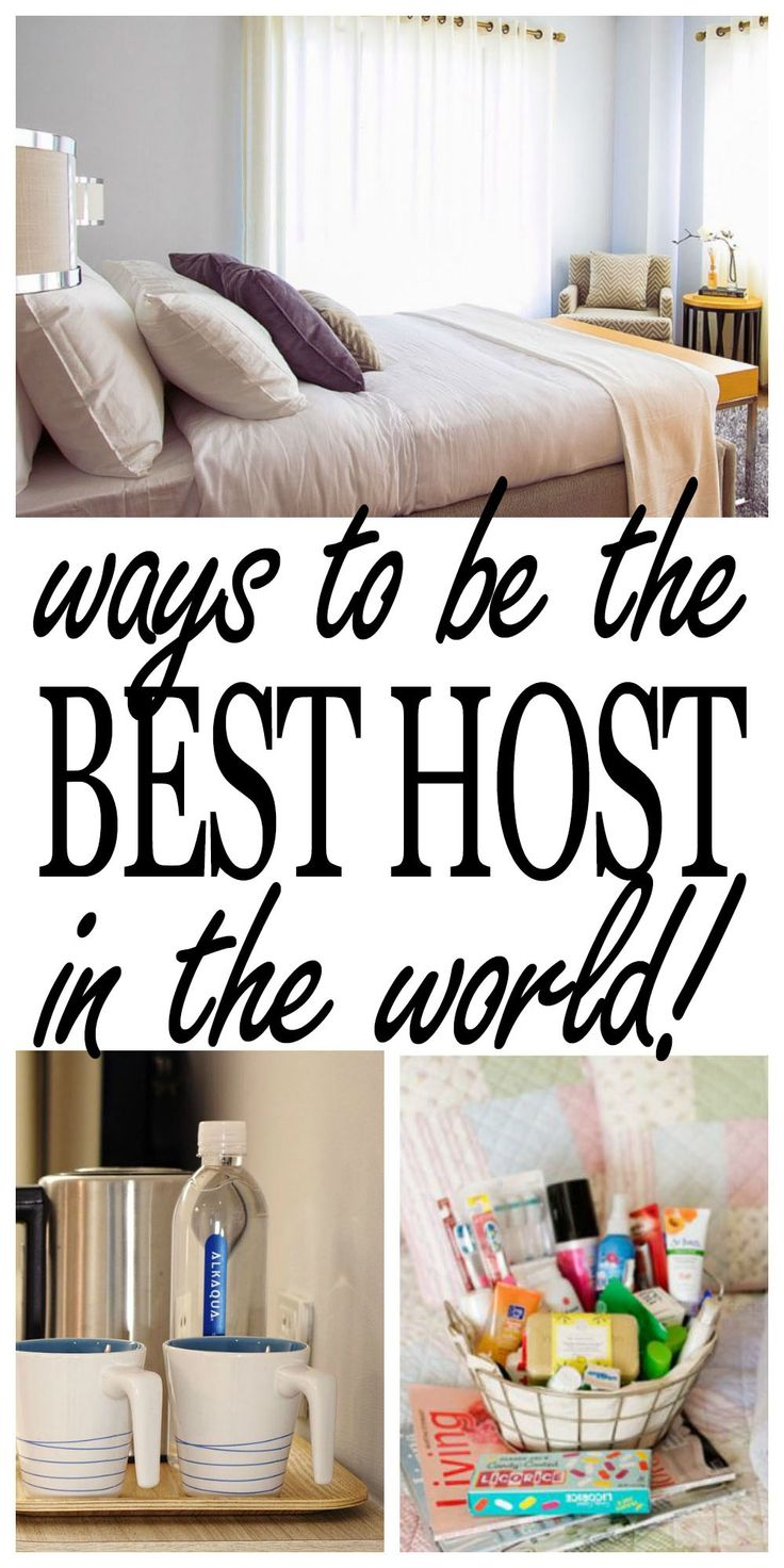 Be the best host! It is not hard nor time consuming. Use some simpleideas to turn your home into a fine hotel for your guests! Provide your guests with a private comfortable space, some luxuries, remember the essentials and prepare for any specifics and have an amazing visit! Having a house guest is all about...