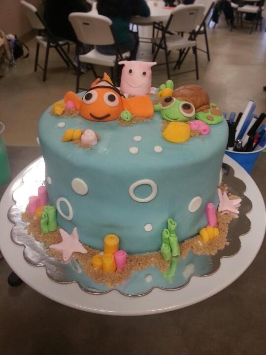 nemo cake template - 166 best finding nemo cakes images on pinterest disney