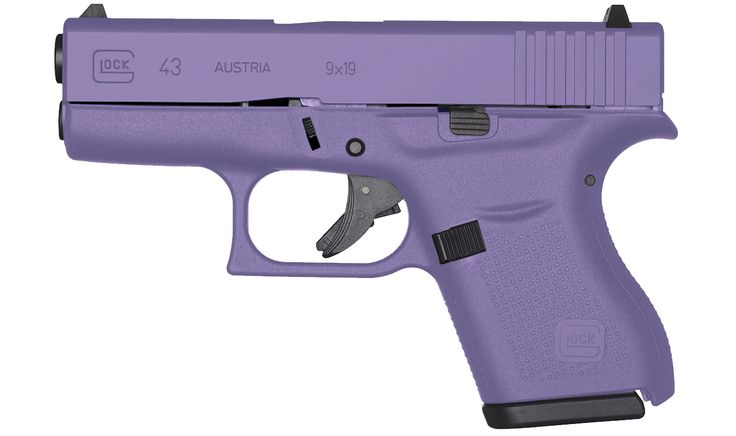 GLOCK 43 9MM ROYAL PURPLE SINGLE STACK PISTOL