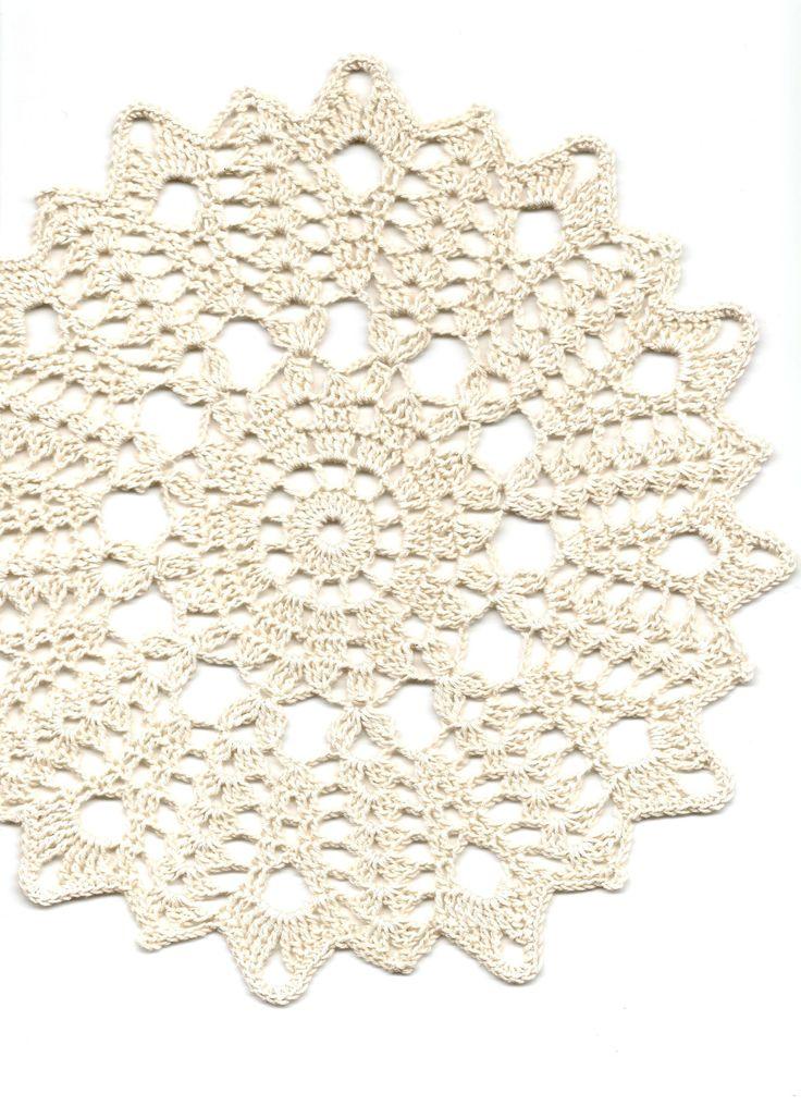 Crochet doily naperons de renda decoração da tabela por DoilyWorld no Etsy
