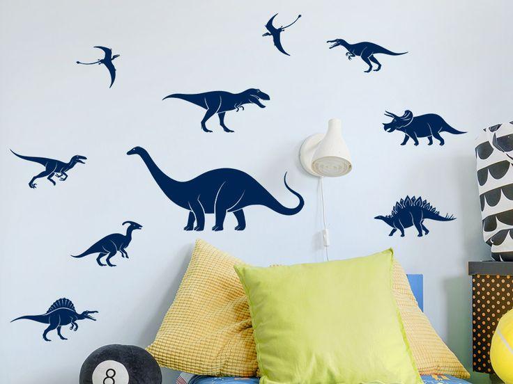 Cute Dinos in allen Gr en Die Wandtattoo Dinosaurier k nnen als tolle Dekoration das Kinderzimmer in verschiedenen