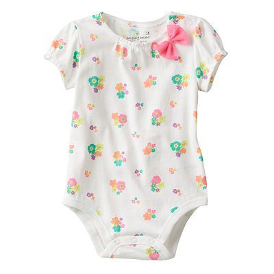 Jumping Beans® Bow Bodysuit - Baby Girl
