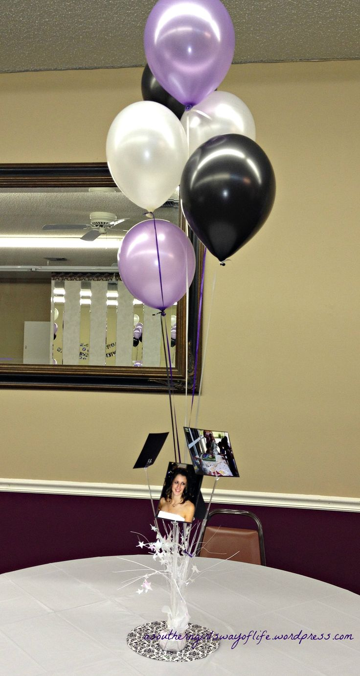 2788 best images about graduation open house ideas on for Balloon decoration graduation