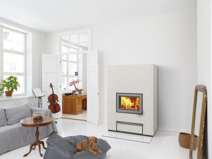 New Valkia Nammi - a modern power heater with stylish surface options. #tulikivi